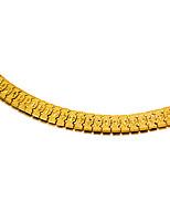 abordables -Homme Chaînes & Bracelets Métallique Mode Plaqué or Bijoux Soirée Cadeau Bijoux de fantaisie Or