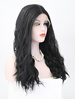 cheap -Synthetic Hair Wigs Natural Wave Lace Front Natural Wigs 13cm(Approx5inch) Black