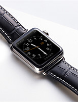 cheap -Watch Band for Apple Watch Series 3 / 2 / 1 Apple Butterfly Buckle Genuine Leather Wrist Strap
