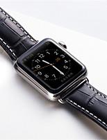abordables -Bracelet de Montre  pour Apple Watch Series 3 / 2 / 1 Apple papillon Boucle Vrai Cuir Sangle de Poignet