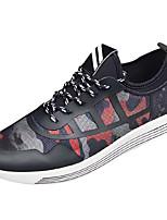 Недорогие -Муж. обувь Тюль Весна Осень Удобная обувь Кеды для Повседневные Белый Черный Черный/Красный
