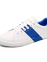 Недорогие -Муж. обувь Ткань Весна Осень Вулканизованная обувь Кеды для Повседневные Розовый и белый Белый/синий