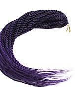 abordables -Rizo senegalés Fibra sintética 1 paquete Trenzas de pelo de ganchillo Trenzas de cabello