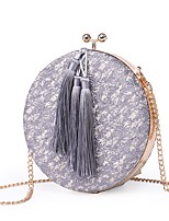 cheap -Women's Bags Polyester Evening Bag Tassel for Wedding Event/Party All Seasons Black Gray