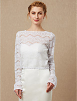 cheap -Long Sleeves Lace Wedding Party / Evening Women's Wrap With Lace Button Coats / Jackets