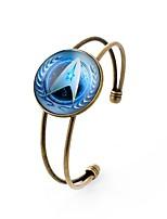 preiswerte -Herrn Damen Manschetten-Armbänder , Metallisch Süß Glas Aleación Kreisform Schmuck Abschluss Verabredung Modeschmuck