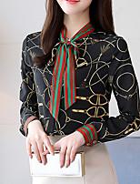cheap -Women's Work Boho Cotton Polyester Shirt - Floral