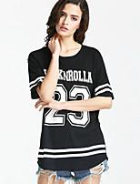 cheap -Women's Polyester T-shirt - Letter