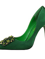 preiswerte -Damen Schuhe Lycra Frühling Sommer Pumps Komfort High Heels Stöckelabsatz Geschlossene Spitze Spitze Zehe Strass für Büro & Karriere