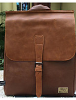 cheap -Men's Bags PU Backpack Buttons Zipper for Casual Outdoor Winter Fall Black Coffee Brown