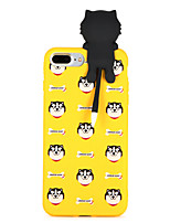 baratos -Capinha Para Apple iPhone 8 Plus iPhone 7 Plus Estampada Capa traseira Cachorro Macia TPU para iPhone 8 Plus iPhone 7 Plus