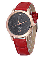 cheap -Women's Quartz Wrist Watch Chinese Calendar / date / day Glitter Shine Leather Band Sparkle Casual Fashion Black White Red Brown