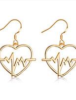 cheap -Women's Hoop Earrings Fashion European Copper Geometric Jewelry Gold Silver Daily Street Costume Jewelry