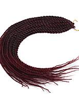 economico -Riccio stile senegalese Fibra sintetica 1pack Trecce per capelli a crochet Trecce di capelli