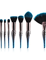 cheap -10-Pack Powder Brush Blush Brush Makeup Brush Set Synthetic Hair Professional Color Gradient Anodized Aluminum Eye Face