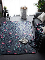 cheap -Creative Modern Area Rugs Flannelette, Superior Quality Rectangular Floral Print Rug