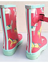 Недорогие -Девочки обувь Резина Весна Лето Резиновые сапоги Удобная обувь Ботинки Сапоги до середины икры для на открытом воздухе Темно-синий