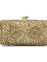 cheap -Women's Bags Metal Evening Bag Crystal Detailing for Wedding Event/Party All Seasons Gold