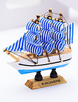 cheap -Cake Topper Nautical Anchor Wooden/Bamboo Party Birthday with Printing 1 Gift Box