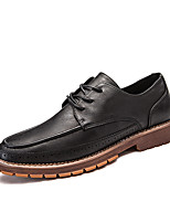 cheap -Men's Shoes Synthetic Microfiber PU Spring Fall Comfort Oxfords for Casual Black Brown Khaki