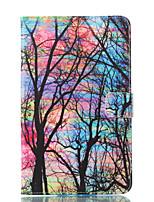 Недорогие -Кейс для Назначение SSamsung Galaxy Tab E 8.0 Кошелек со стендом Флип С узором Авто Режим сна / Пробуждение Чехол дерево Твердый Кожа PU