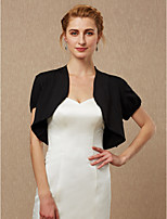 cheap -Short Sleeves Spandex Wedding Party / Evening Women's Wrap Shrugs
