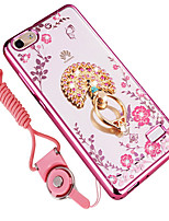 cheap -Case For Huawei Shockproof Rhinestone with Stand Back Cover Flower Soft Silicone for Huawei Honor 4C