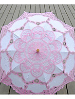 cheap -pink and lace embroidered umbrella