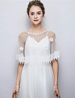 cheap -Sleeveless Tulle Wedding Party / Evening Women's Wrap With Rhinestone Lace Capelets