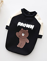cheap -Dogs Sweatshirt Dog Clothes Cute Style Warm Ups Bear Blue Costume For Pets