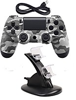 cheap -Wired Game Controller Gamepad Controller Joystick Gamepads with Dual charger for PS4