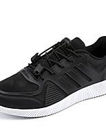 Недорогие -Муж. обувь Ткань Весна Осень Светодиодные подошвы Кеды для Повседневные Черный Черно-белый