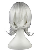 cheap -Synthetic Wig Straight White Capless Cosplay Wig 13cm(Approx5inch) Synthetic Hair
