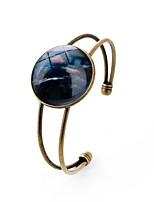 cheap -Men's Women's Cuff Bracelet , Sexy Lovely Glass Alloy Circle Jewelry Going out Festival