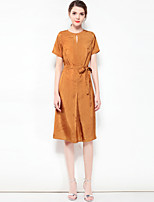 cheap -MARY YAN&YU Women's A Line Dress - Solid Colored