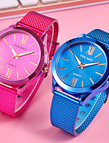 cheap -Women's Fashion Watch Chinese Quartz Casual Watch Alloy Band Fashion Black Blue Red Rose