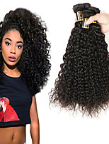 abordables -Cheveux Brésiliens Kinky Curly Tissages de cheveux humains 3pcs Tissages de cheveux humains