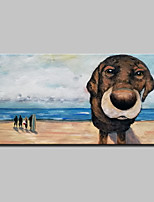 cheap -Hand-Painted Animals Horizontal, Modern Oil Painting Home Decoration One Panel