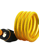 cheap -bike lock mountain bike lock electric car lock steel wire lock cable 12*1100mm random color of lock head