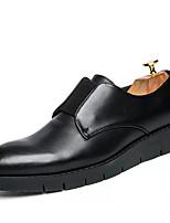 Недорогие -Муж. обувь Наппа Leather Весна Осень Удобная обувь Туфли на шнуровке для Офис и карьера Черный