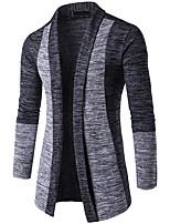 cheap -Men's Daily Color Block V Neck Cardigan,Long Sleeves Spring Fall Cotton