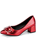 cheap -Women's Shoes PU Fall Basic Pump Comfort Heels Stiletto Heel Pointed Toe for Wedding Office & Career Black Silver Red