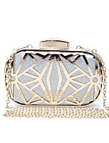 cheap -Women's Bags Metal Evening Bag Crystal Detailing for Wedding Event/Party All Seasons Gold Black Silver