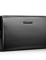 cheap -Bags PU Clutch Ruffles Zipper for Casual Office & Career All Seasons Black Brown