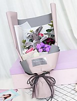 cheap -Wedding Congratulations Party Favors & Gifts - Gifts Ornaments Rabbit Satin Bow Sash / Ribbon Tag Dried Flower Flower & Bud Floral Theme