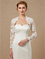 cheap -Long Sleeves Lace Tulle Wedding Party / Evening Women's Wrap With Appliques Lace Shrugs