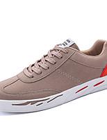 baratos -Homens sapatos Micofibra Sintética PU Primavera Outono Solados com Luzes Tênis para Casual Preto Cinzento Castanho Claro