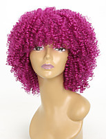 cheap -Synthetic Wig Kinky Curly African American Wig Capless Red Party Wig Natural Wigs 8-11inch