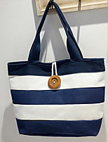 cheap -Women's Bags Canvas Polyester Tote Zipper for Casual All Seasons Blue Black