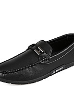 cheap -Men's Shoes PU Spring Fall Moccasin Loafers & Slip-Ons for Casual White Black Orange